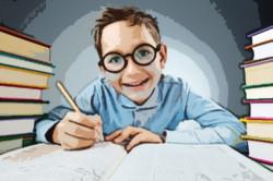 ребенок занимается уроками