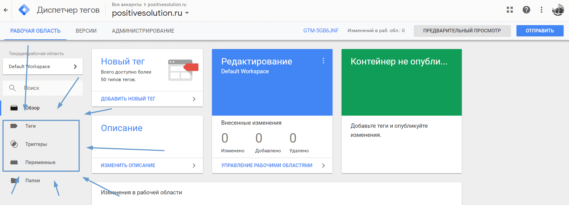 Яндекс Метрика через Google Tag Manager